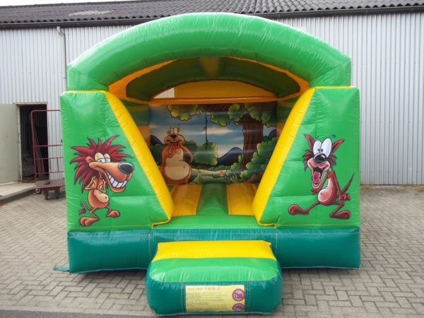 Springkussen jungle met dak