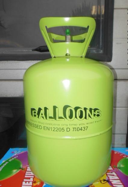 Helium tanks zonder ballonnen